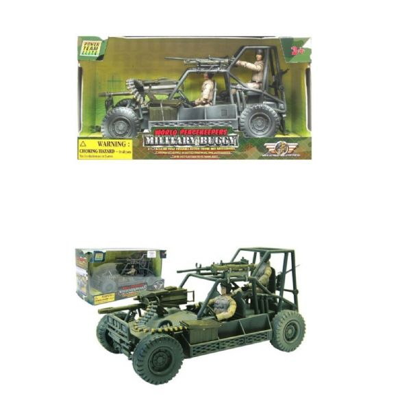 World PeaceKeepers Army Military Buggy Toy Vehicle With Army Figures
